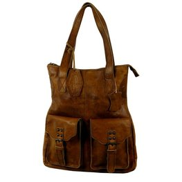 Rodeo-washed leren shopper